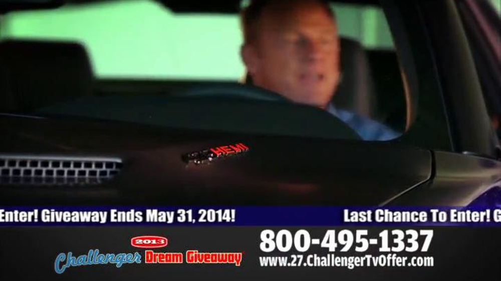 2014 Challenger Dream Giveaway TV Spot - Screenshot 4