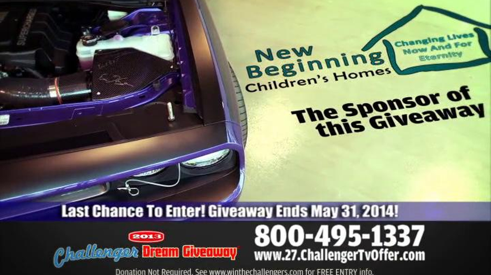 2014 Challenger Dream Giveaway TV Spot - Screenshot 5
