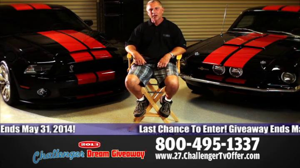 2014 Challenger Dream Giveaway TV Spot - Screenshot 6