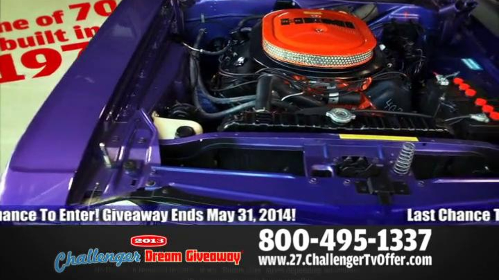 2014 Challenger Dream Giveaway TV Spot - Screenshot 7