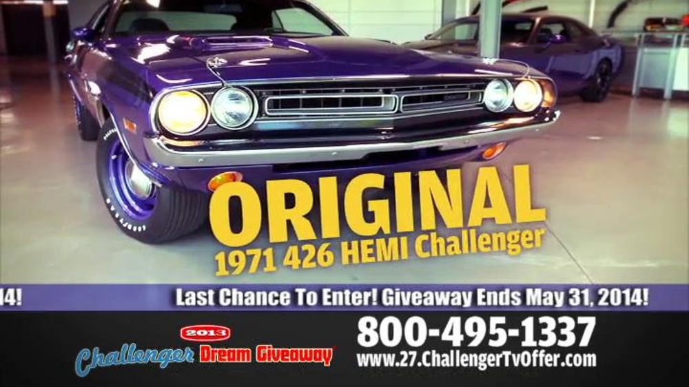 2014 Challenger Dream Giveaway TV Spot - Screenshot 8