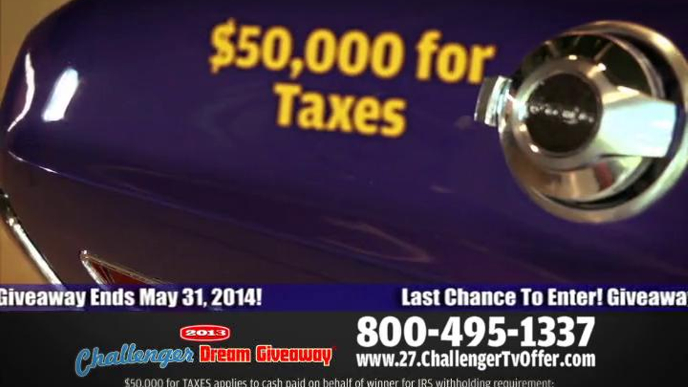 2014 Challenger Dream Giveaway TV Spot - Screenshot 9
