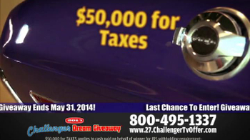 2014 Challenger Dream Giveaway TV Spot - Thumbnail 9