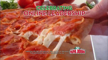 Papa John's TV Spot, 'Online Leadership' Featuring Jim Nanz