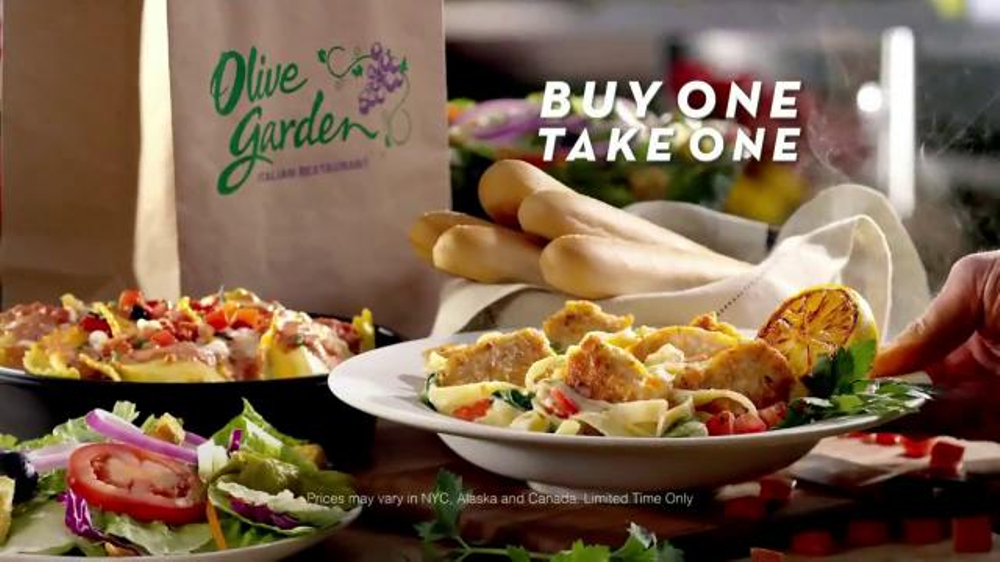 Olive garden buy one take one tv commercial for Take me to the nearest olive garden