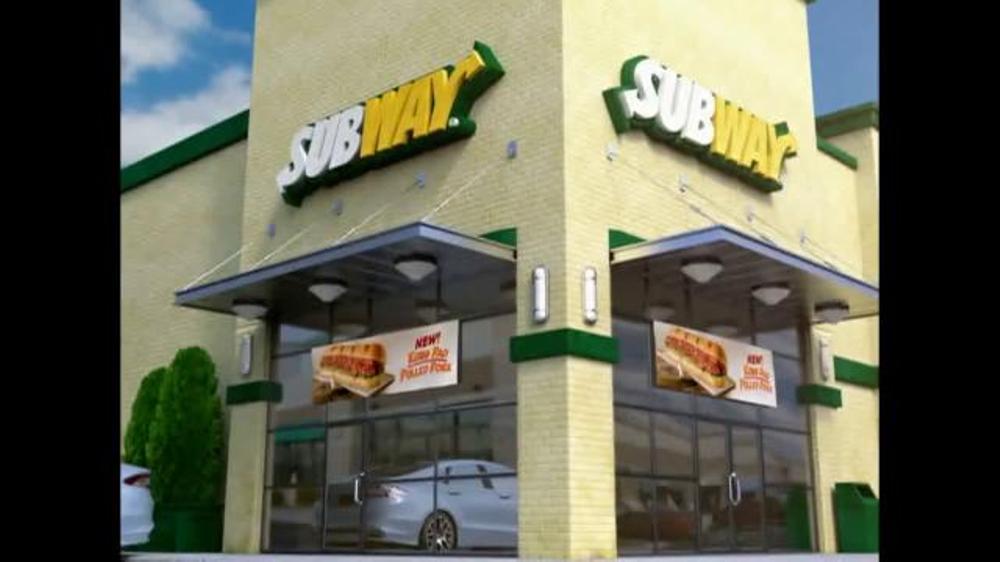 Subway Kung Pao Pulled Pork TV Spot - Screenshot 1