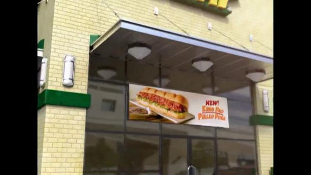 Subway Kung Pao Pulled Pork TV Spot - Screenshot 10