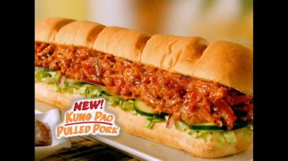 Subway Kung Pao Pulled Pork TV Spot - Screenshot 3