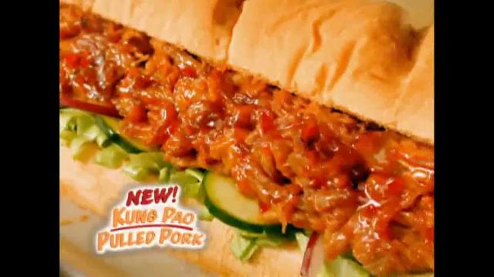 Subway Kung Pao Pulled Pork TV Spot - Screenshot 9