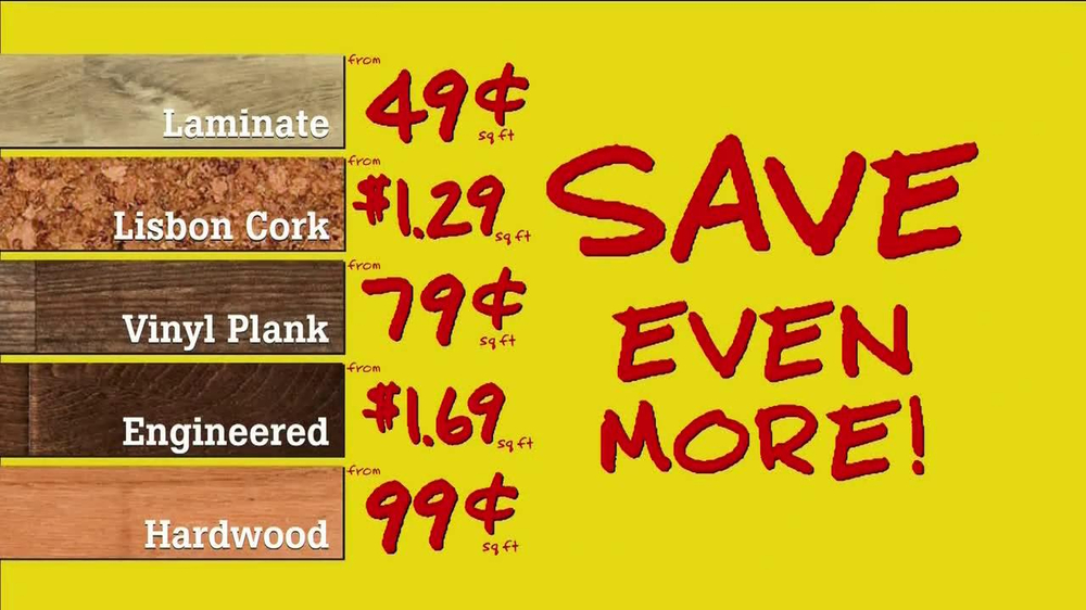Flooring Sale Flyer : Lumber liquidators spring flooring sale tv commercial