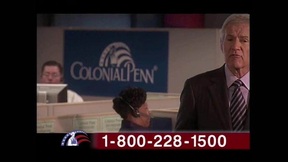Colonial Penn TV Spot, 'Cubicles' Featuring Alex Trebek - Screenshot 7