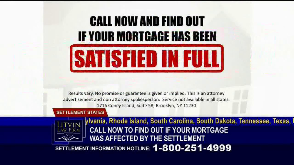 Litvin Law Firm TV Spot, 'Disqualified Mortgages' - Screenshot 5