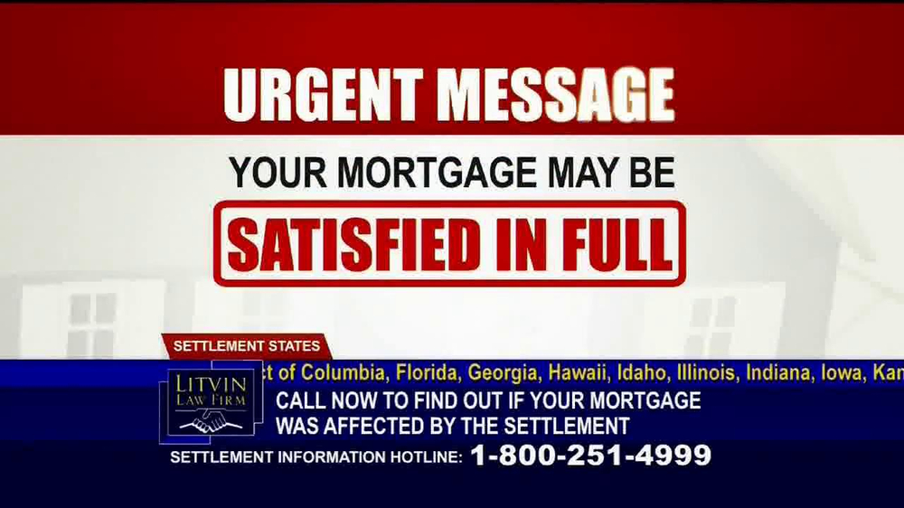 Litvin Law Firm TV Spot, 'Disqualified Mortgages' - Screenshot 1