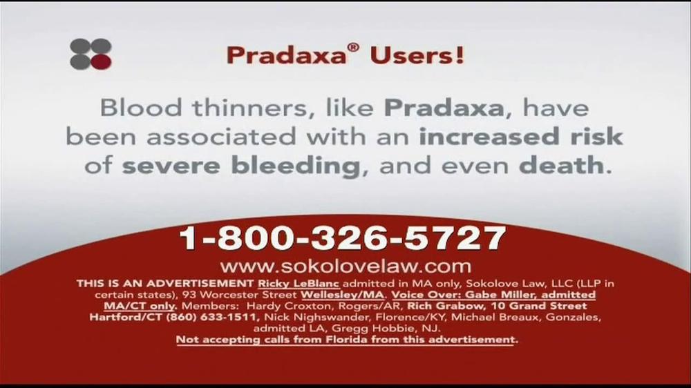 Pulaski Law Firm >> Sokolove Law TV Spot, 'Pradaxa Users' - iSpot.tv