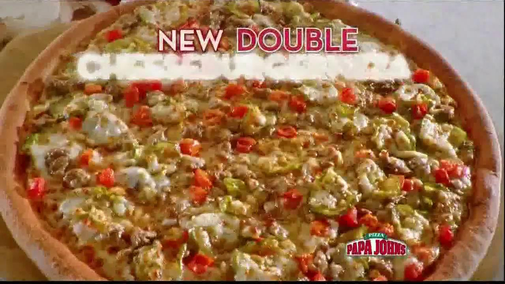 Papa John's Double Cheeseburger Pizza TV Spot - Screenshot 4