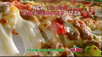 Papa John's Double Cheeseburger Pizza TV Spot - Thumbnail 5