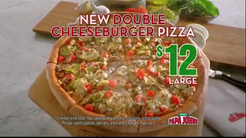Papa John's Double Cheeseburger Pizza TV Spot - Thumbnail 7