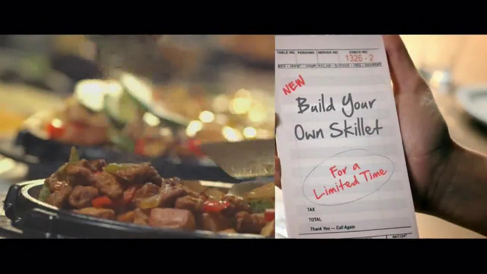 Denny's Build Your Own Skillet TV Spot