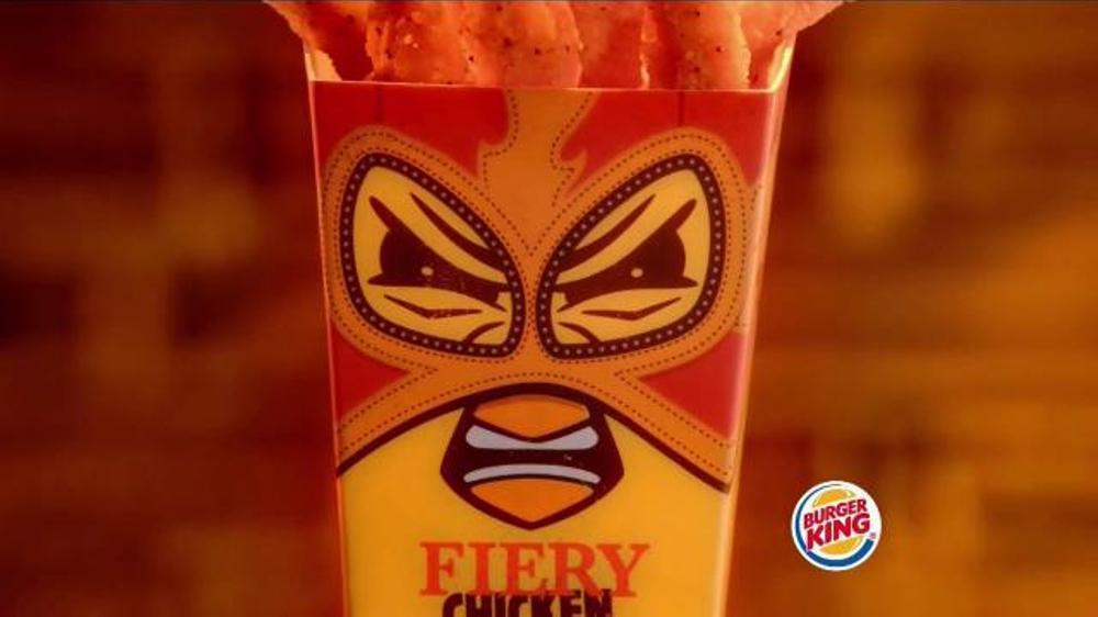 Burger King Fiery Chicken Fries TV Spot, 'Caution' thumbnail