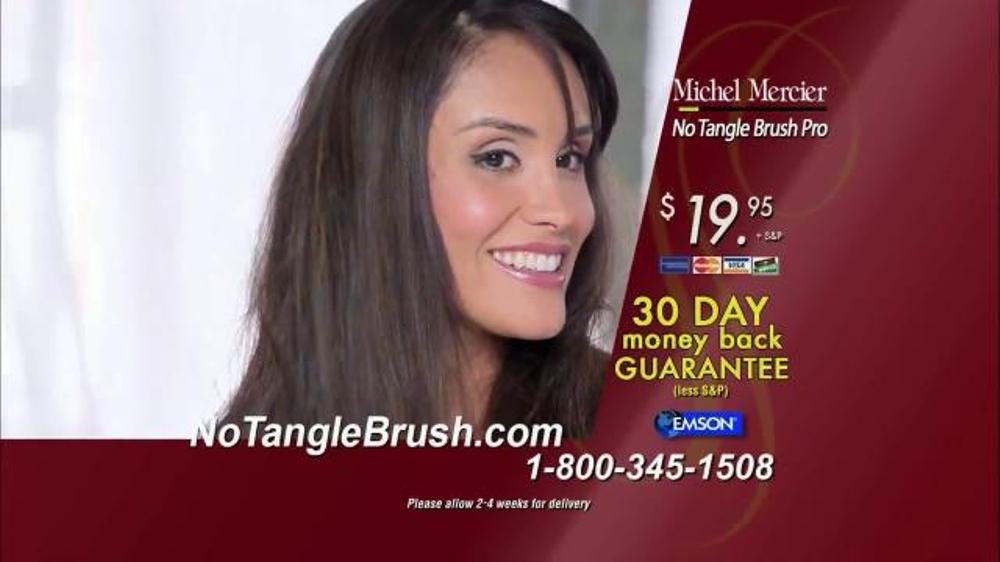 Michel Mercier No Tangle Brush Pro Tv Spot Detangle