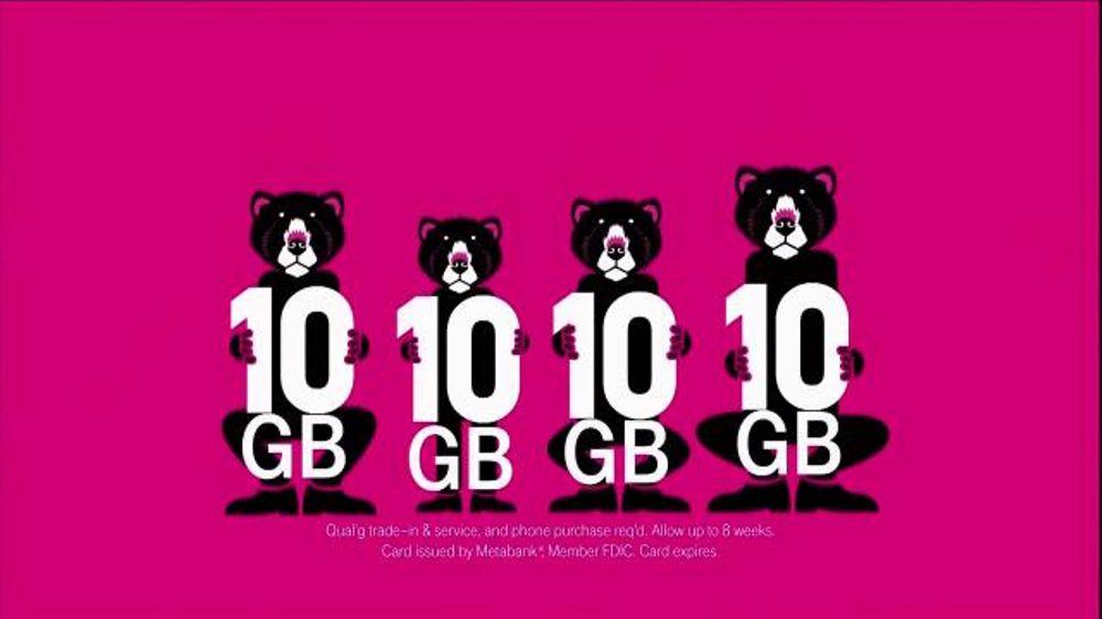 T-Mobile TV Spot, '10 Gigs for All Family Plan' thumbnail