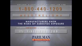 Parilman & Associates TV Spot, 'Asbestos Exposure'