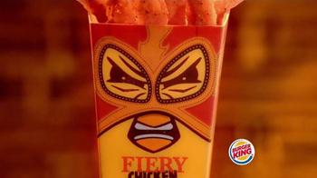 Burger King Fiery Chicken Fries TV Spot, 'Precaución [Spanish] thumbnail