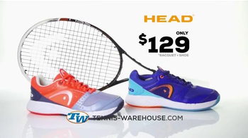 Tennis Warehouse TV Spot, 'Head Racket and Shoes'