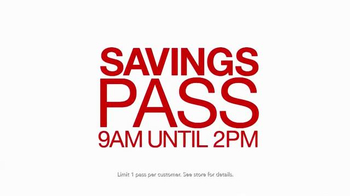 Macy's One Day Sale TV Spot, 'August Savings Pass' thumbnail