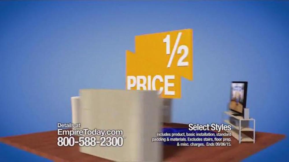 empire today half price sale tv spot   u0026 39 flooring made easy u0026 39