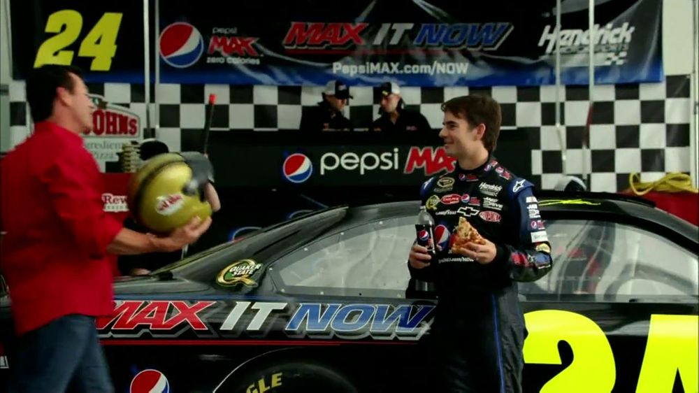 Papa John's TV Spot For Pepsi Max Featuring Jeff Gordon - Screenshot 4