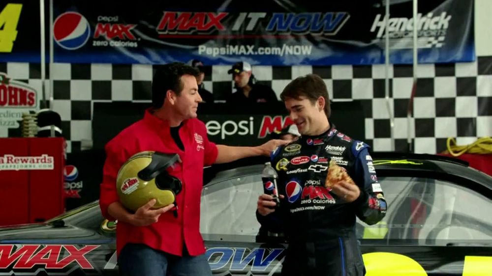 Papa John's TV Spot For Pepsi Max Featuring Jeff Gordon - Screenshot 5