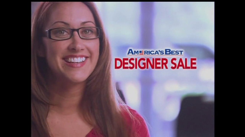 America's Best Contacts and Eyeglasses TV Spot For  Designer Sale - Screenshot 1