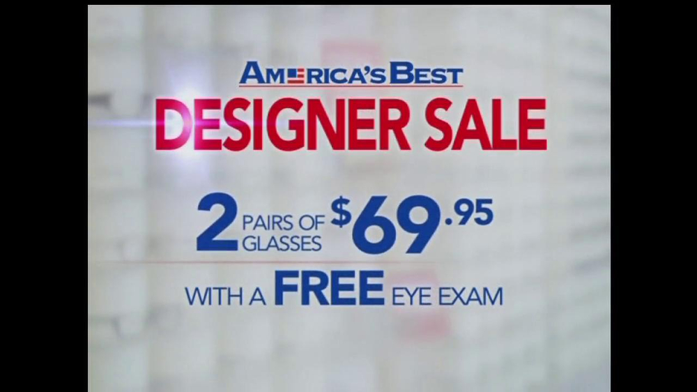 America's Best Contacts and Eyeglasses TV Spot For  Designer Sale - Screenshot 2