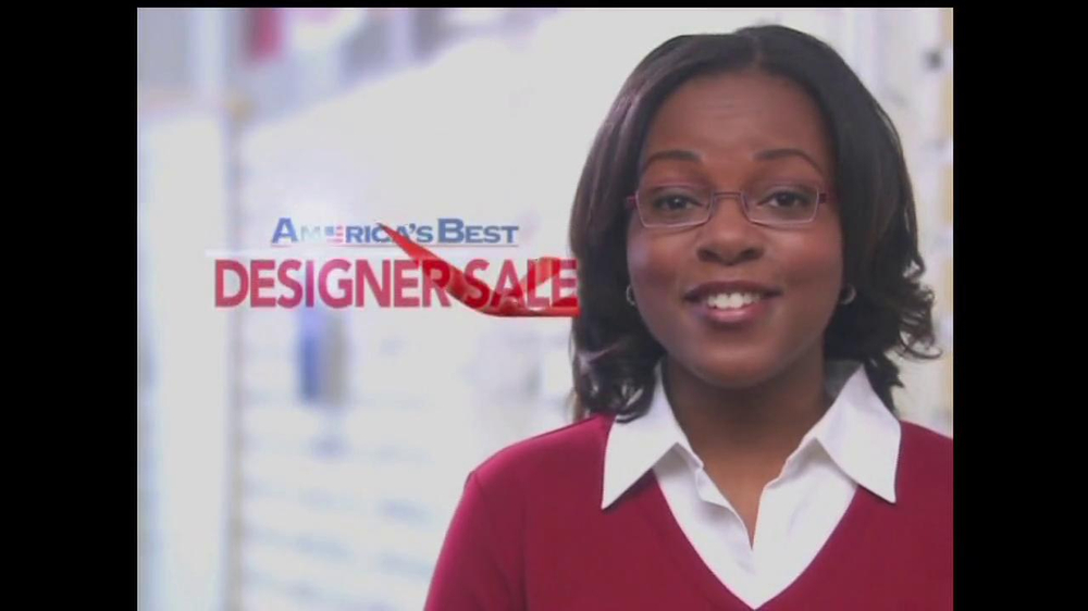 America's Best Contacts and Eyeglasses TV Spot For  Designer Sale - Screenshot 4