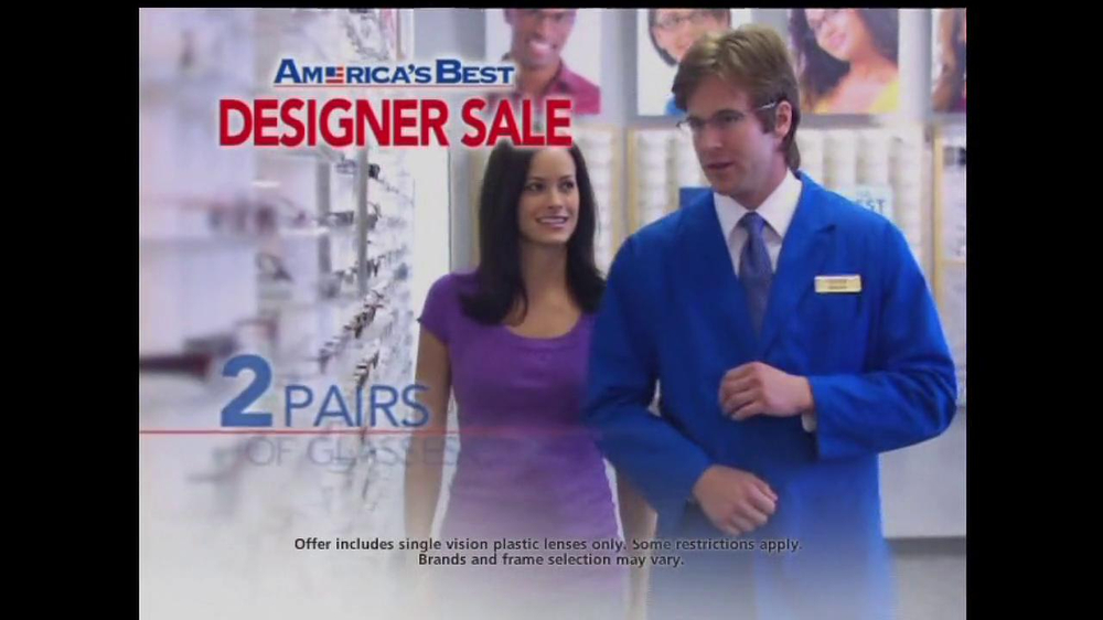 America's Best Contacts and Eyeglasses TV Spot For  Designer Sale - Screenshot 5
