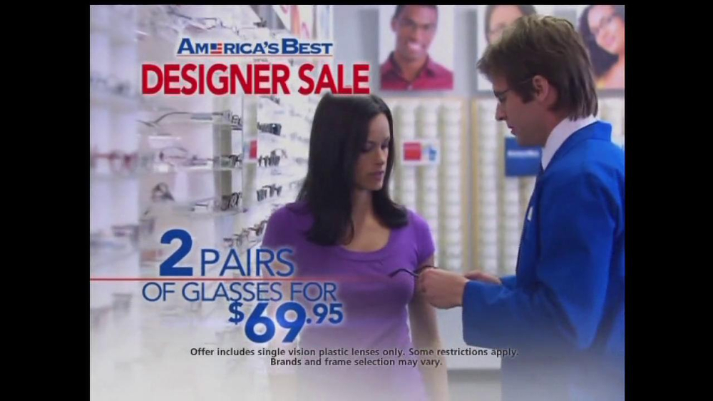 America's Best Contacts and Eyeglasses TV Spot For  Designer Sale - Screenshot 6