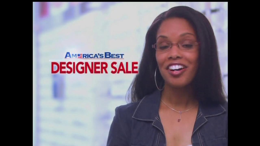 America's Best Contacts and Eyeglasses TV Spot For  Designer Sale - Screenshot 7