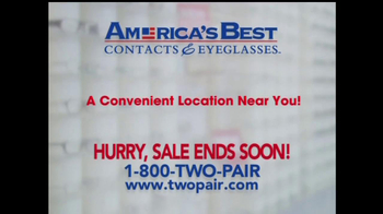 America's Best Contacts and Eyeglasses TV Spot For  Designer Sale - Thumbnail 9
