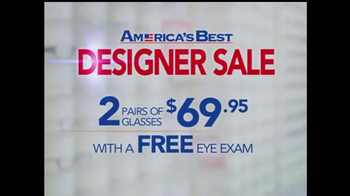 America's Best Contacts and Eyeglasses TV Spot For  Designer Sale - Thumbnail 2