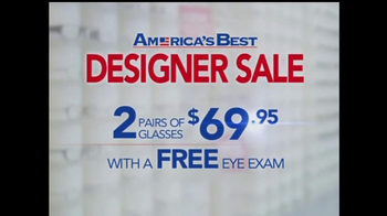 America's Best Contacts and Eyeglasses TV Spot For  Designer Sale - Thumbnail 3