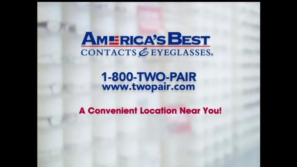 America's Best Contacts and Eyeglasses TV Spot For Two Pairs of Glasses  - Screenshot 7