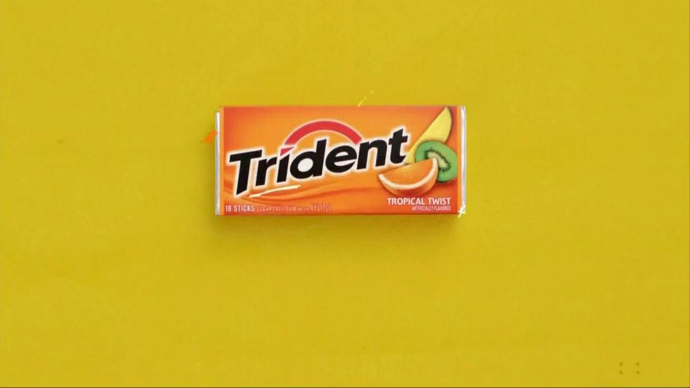 Trident TV Spot For Trident Gum Tropical Twist - Screenshot 1