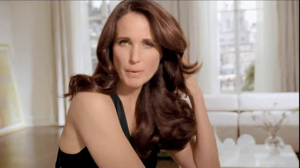 Andie MacDowell loreal commercial