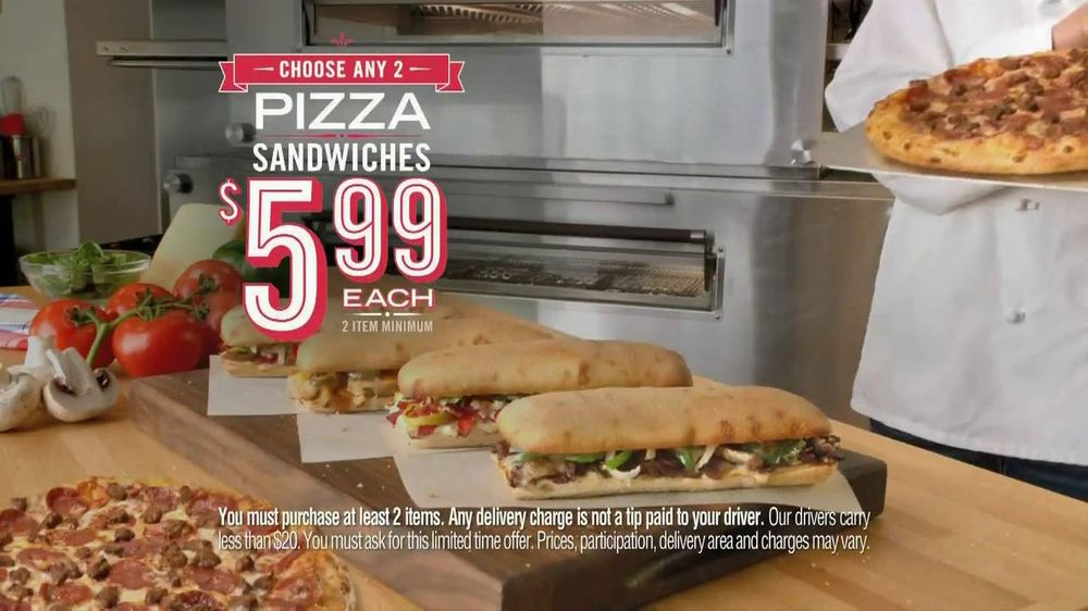 Domino's Fresh Baked Sandwiches TV Commercial, 'Flavor