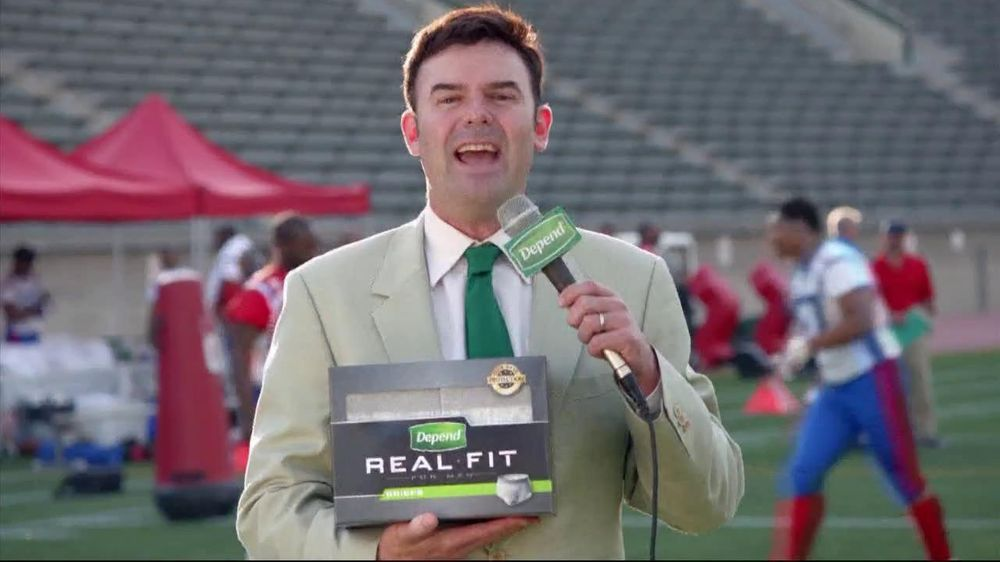 Depends TV Spot For Real Fit Featuring Pro Football Players - Screenshot 1