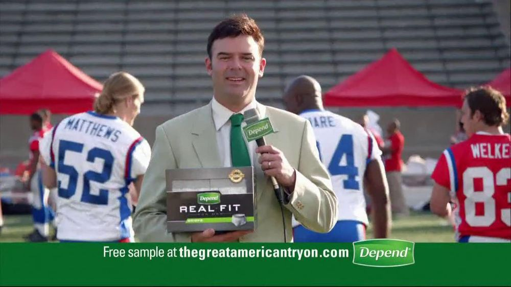 Depends TV Spot For Real Fit Featuring Pro Football Players - Screenshot 9