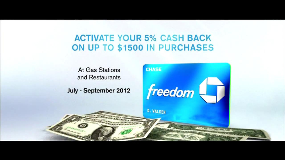 Chase Freeddom TV Spot, 'Cash Back At Gas Stations' - Screenshot 8