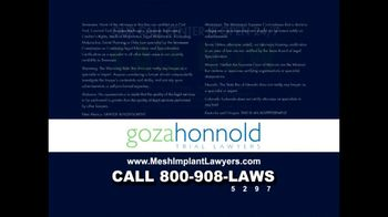 Goza Honnold Trial Lawyers TV Spot For Transvaginal Mesh Alert - Thumbnail 9