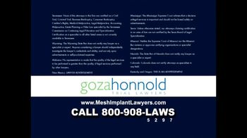 Goza Honnold Trial Lawyers TV Spot For Transvaginal Mesh Alert - Thumbnail 8